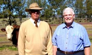 Peter Howarth & Dr Trevan with Langton Gate Yakka